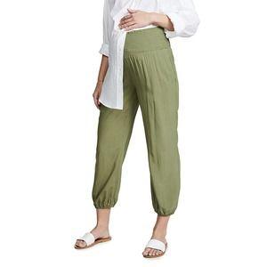 Hatch green maternity high waist comfy jogger pant